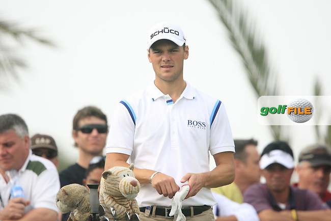 Martin Kaymer waits to tee off on the 14th tee during the Final Day Sunday of the Abu Dhabi HSBC Golf Championship, 23rd January 2011..(Picture Eoin Clarke/www.golffile.ie)