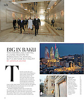 &quot;Big in Baku,&quot; T: The New York Times Style Magazine, August 19, 2012, p. 148.<br />