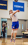 27 October 2013: Yeshiva University Maccabee Defensive Specialist Shira Genauer, a Senior from Seattle, WA, in action against the College of Mount Saint Vincent Dolphins at the College of Mount Saint Vincent in Riverdale, NY. The Dolphins defeated the Maccabees 3-0 in NCAA women's volleyball play. Mandatory Credit: Ed Wolfstein Photo *** RAW (NEF) Image File Available ***