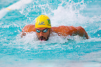 Santa Clara, California - Saturday June 4, 2016: Leonardo de Deus swims in the Men's 200 LC Meter Butterfly, de Deus went on to tie for first place with Tom Shields at 1:58.93 in the morning session.