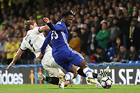 Michy Batshuayi of Chelsea gets ready to take a shot at the Watford goal during Chelsea vs Watford, Premier League Football at Stamford Bridge on 15th May 2017