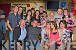 Sean Kerley Castleisland celebrates his 21st birthday with his family and friends in the Half Barrell, Castleisland on Friday night...