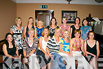 LADIES: Members of the Cahersiveen Senior Ladies Basketball Team who attended the Cahersiveen Basketball Social on Saturday night last in Cable OLearys Bar and Restaurant, Ballinskelligs. Front row l-r: Rosaleen OConnell, Cathriona Fitzgerald, Marie Teahan, Mary Fogarty, Majella Kelly, Cathy ODonovan and Aine Morris. Back row l-r: Maura OConnor, Maire OMahony, Grace King, Elaine Clifford, Ita OSullivan, Aoife Ni Bhrion and Nora Golden..