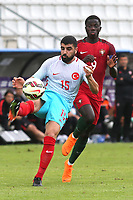 Adil Demirbag of Turkey U21's clears the ball upfield during Portugal Under-19 vs Turkey Under-21, Tournoi Maurice Revello Football at Stade Parsemain on 3rd June 2018