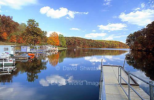 Peaceful rural Argyle lake near Macomb, Illinois