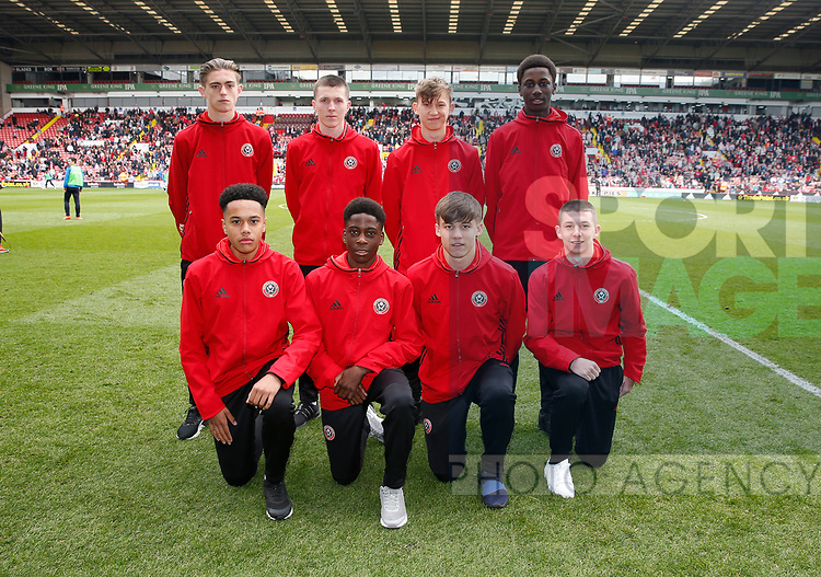 New U18 team members during the English League One match at  Bramall Lane Stadium, Sheffield. Picture date: April 30th 2017. Pic credit should read: Simon Bellis/Sportimage