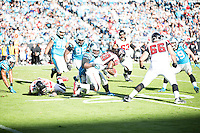 The Carolina Panthers defeated the Atlanta Falcons 34-10 in an inter-division rivalry played in Charlotte, NC at Bank of America Stadium.  Atlanta Falcons running back Steven Jackson (39)