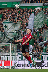 02.11.2019, wohninvest WESERSTADION, Bremen, GER, 1.FBL, Werder Bremen vs SC Freiburg<br /> <br /> DFL REGULATIONS PROHIBIT ANY USE OF PHOTOGRAPHS AS IMAGE SEQUENCES AND/OR QUASI-VIDEO.<br /> <br /> im Bild / picture shows<br /> Marco Friedl (Werder Bremen #32) im Duell / im Zweikampf mit Roland Sallai (SC Freiburg #22), <br /> <br /> Foto © nordphoto / Ewert