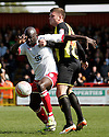 Patrick Agyemang of Stevenage (on loan from QPR) and Harlee Dean of Brentford tussle. - Stevenage v Brentford - npower League 1 - Lamex Stadium, Stevenage - 21st April, 2012. © Kevin Coleman 2012