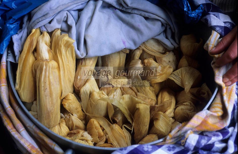 Amérique/Amérique du Sud/Pérou/Lima : Marché de Surquillo - Cu Tamales (Maïs cuit)