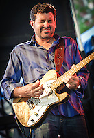Tab Benoit and his band playing at the 2011 Blues and BBQ Festival in New Orleans, LA.