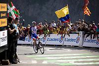 Stage winner Thibaut Pinot (FRA/Groupama FDJ)<br /> <br /> Stage 14: Tarbes to Tourmalet (117km)<br /> 106th Tour de France 2019 (2.UWT)<br /> <br /> ©kramon