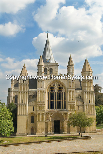 Rochester Cathedral. This is the second oldest cathedral site in Britain. The present building dates to 1080, and was built by Bishop Gundulf who was also responsible for the construction of neighbouring Rochester Castle. Both the cathedral and castle appear in Charles Dickens novels The Mystery of Edwin Drood, and The Pickwick Papers.