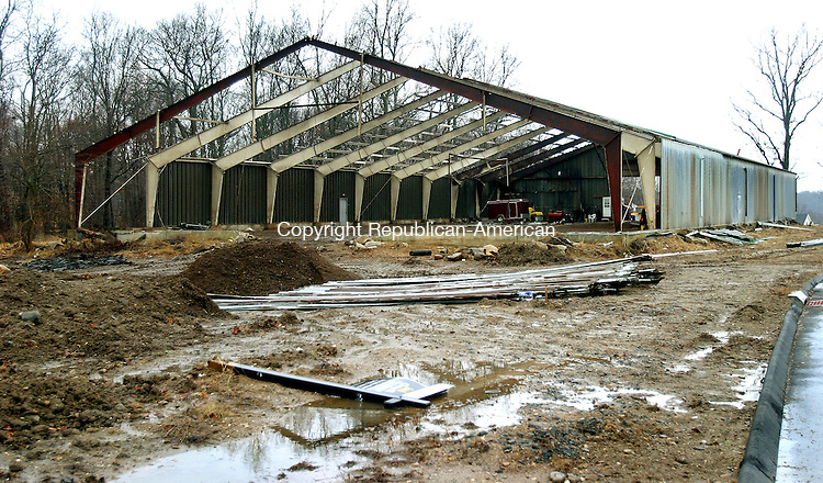 SOUTHBURY, CT. 09 January 2008-010908SV02-- The owner of this 20,000 square-foot horse riding barn in Southbury is offering to dismantle and transport the large, metal building to Watertown for it to use as a recreation center. The owner of the barn wants to get rid of the structure in order to clear the way for more housing lots on what will be an exclusive subdivision in Southbury. It's estimated the town will have to store the sections of the barn while it determines where it could best be used.<br /> Steven Valenti Republican-American