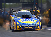 Apr 30, 2016; Baytown, TX, USA; NHRA funny car driver Ron Capps during qualifying for the Spring Nationals at Royal Purple Raceway. Mandatory Credit: Mark J. Rebilas-USA TODAY Sports