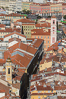 Europe/France/Provence-Alpes-Côte d'Azur/Alpes-Maritimes/Nice: Vue sur le Vieux Nice depuis la Colline du Château: Lou Casteu //  Europe/France/Provence-Alpes-Côtes d'Azur/06/Alpes-Maritimes/Nice: View of the Old Town from the Castle Hill: Lou Casteu
