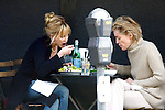 ..9-25-09.Sharon Stone eating lunch with Melanie Griffith smoking cigarette & putting lipstick on at a restaurant called Joan's on 3rd st Los Angeles ca ....AbilityFilms@yahoo.com.805-427-3519.www.AbilityFilms.com.