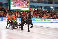 SCHAATSEN: HEERENVEEN: 08-01-2017, IJsstadion Thialf, ISU EC Sprint & Allround, Ereronden Arrenslee, Ireen Wüst en Sven Kramer, ©foto Martin de Jong