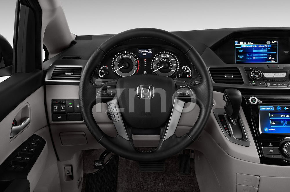 Steering wheel view of a 2014 Honda Odyssey EX-L