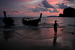 Sun sets over Ao Railay, Krabi, Thailand on Sunday, July 26, 2015. (photo by Khampha Bouaphanh)