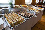 Desserts served at Tea Time on board the National Geographic Explorer in Antarctica