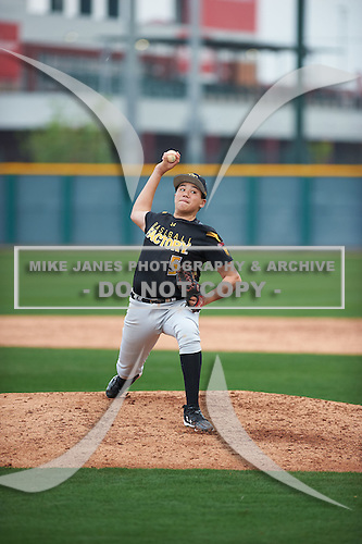Jonathan Clark (5) of Mission Hills High School in San Marcos, California during the Under Armour All-American Pre-Season Tournament presented by Baseball Factory on January 14, 2017 at Sloan Park in Mesa, Arizona.  (Zac Lucy/Mike Janes Photography)