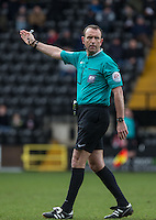 Referee Carl Boyeson during the Sky Bet League 2 match between Notts County and Wycombe Wanderers at Meadow Lane, Nottingham, England on 28 March 2016. Photo by Andy Rowland.