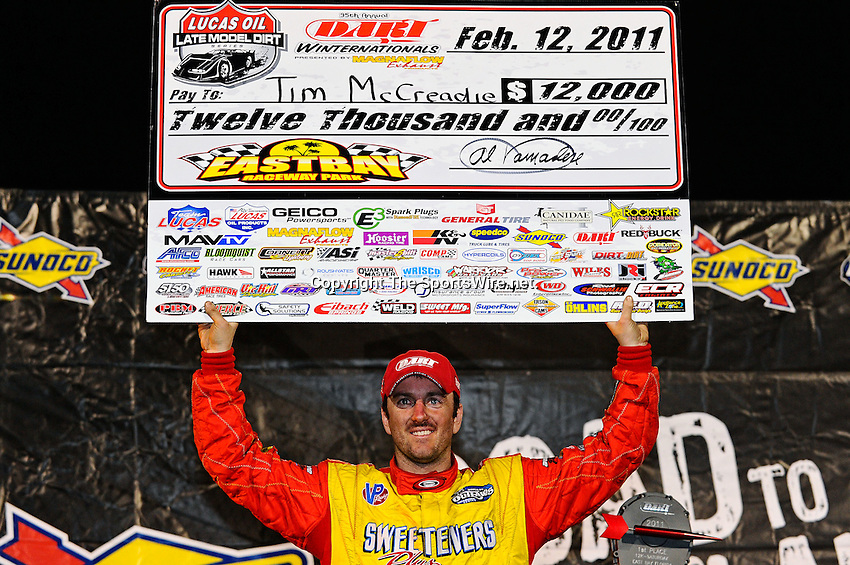 Feb 12, 2011; 9:52:21 PM; Gibsonton, FL., USA; The Lucas Oil Dirt Late Model Racing Series running The 35th annual Dart WinterNationals at East Bay Raceway Park.  Mandatory Credit: (thesportswire.net)