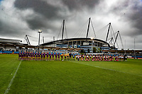 Picture by Paul Currie/SWpix.com - 07/10/2017 - Rugby League - Women's Super League Grand Final - Bradford Bulls v Featherstone Rovers - Regional Arena, Manchester, England - The teams line up before the match