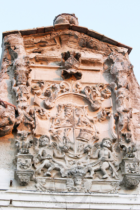 coat of arms the future Posada Real hotel Bodegas Concejo (previously called Pilcar), DO Cigales , Valoria la Buena spain castile and leon