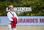 28th September 2017, Real Club de Polo de Barcelona, Barcelona, Spain; Longines FEI Nations Cup, Jumping Final; Jérome GUERY (BEL)watches the action before the Nations Cup FInal