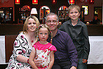 Raymond McEnaney with his family, Christine, Joseph and Rachel at his 40th in Nano Reids....Photo NEWSFILE/Jenny Matthews.(Photo credit should read Jenny Matthews/NEWSFILE)....This Picture has been sent you under the condtions enclosed by:.Newsfile Ltd..The Studio,.Millmount Abbey,.Drogheda,.Co Meath..Ireland..Tel: +353(0)41-9871240.Fax: +353(0)41-9871260.GSM: +353(0)86-2500958.email: pictures@newsfile.ie.www.newsfile.ie.FTP: 193.120.102.198.