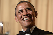 United States President Barack Obama attends the annual White House Correspondents Association Gala at the Washington Hilton Hotel, May 3, 2014 in Washington, DC. <br /> Credit: Olivier Douliery / Pool via CNP