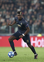 Football Soccer: UEFA Champions League -Group Stage-  Group H - Juventus vs Manchester United, Allianz Stadium. Turin, Italy, November 07, 2018.<br /> Manchester United's Paul Pogba in action during the Uefa Champions League football soccer match between Juventus and Manchester United at Allianz Stadium in Turin, November 07, 2018.<br /> UPDATE IMAGES PRESS