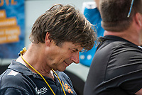 """Lucerne, SWITZERLAND, 14th July 2018, Saturday, """"Netherland Rowing Coach"""", """"Rene MIJJNDERS"""", checking his stop watch"""", FISA World Cup III Lake Rotsee, © Peter SPURRIER,"""