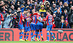 Crystal Palace's Jordan Ayew celebrate with team mates after scoring to make it 1-1 during the Premier League match at Selhurst Park, London. Picture date: 11th January 2020. Picture credit should read: Paul Terry/Sportimage
