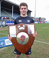 11 March 2013; Campbell skipper Marcus Collim after the Medallion Shield Final between Wallace High School and Campbell College at Ravenhill, Belfast, DICKSONDIGITAL