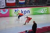 SCHAATSEN: HAMAR: Vikingskipet, 11-01-2014, Essent ISU European Championship Allround, 500m Men, Jan Blokhuijsen (NED), Havard Bøkko (NOR), ©foto Martin de Jong
