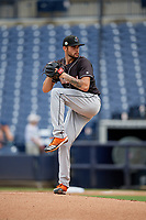 Jupiter Hammerheads pitcher Chris Vallimont (10) during a Florida State League game against the Tampa Tarpons on July 26, 2019 at George M. Steinbrenner Field in Tampa, Florida.  Tampa defeated Jupiter 2-0 in the first game of a doubleheader.  (Mike Janes/Four Seam Images)