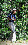 President Barack Obama golfs at Farm Neck Golf Club while vacationing on the island of Martha's Vineyard on Thursday, August 26, 2010.
