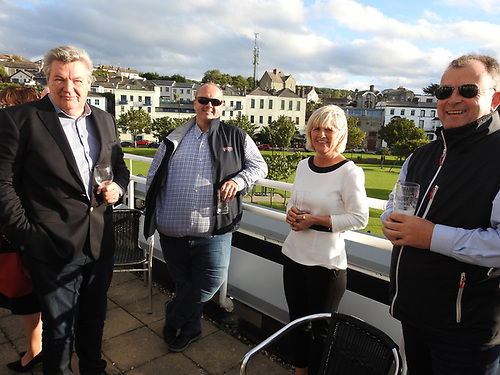 Volvo Dun Laoghaire Regatta Chairman Don O'Dowd, Wave Regatta's Dave Cullen and VDLR Secretary Ciara Dowling