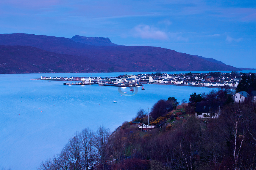 Ullapool and Little Loch Broom at dawn, Ross & Cromarty, Northwest Highlands