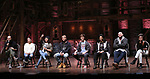 "Sean Green Jr., Lauren Boyd, Sasha Hollinger, Terrance Spencer, Thayne Jasterson, Raven Thomas, Greg Treco and Denee Benton during the ""Hamilton"" eduHAM Student Matinee Q & A  at the Richard Rodgers Theatre on February 13, 2019 in New York City."