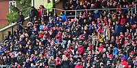 Lincoln City fans watch their team in action<br /> <br /> Photographer Andrew Vaughan/CameraSport<br /> <br /> The EFL Sky Bet League Two - Lincoln City v Forest Green Rovers - Saturday 3rd November 2018 - Sincil Bank - Lincoln<br /> <br /> World Copyright © 2018 CameraSport. All rights reserved. 43 Linden Ave. Countesthorpe. Leicester. England. LE8 5PG - Tel: +44 (0) 116 277 4147 - admin@camerasport.com - www.camerasport.com