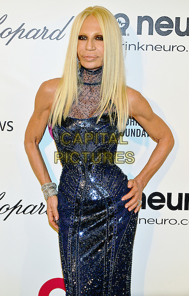 02 March 2014 - West Hollywood, California - Donatella Versace. 22nd Annual Elton John Academy Awards Viewing Party held at West Hollywood Park. <br /> CAP/ADM/CC<br /> &copy;CC/AdMedia/Capital Pictures