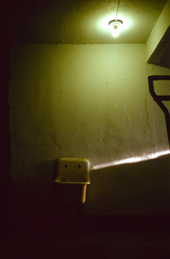 A sink in the solitary confinement and old women's section of Old Montana State Prison in August of 2006.