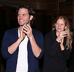 Steven Pasquale and Kelli O'Hara during the Actor's Equity Opening Night Gypsy Robe Ceremony honoring Jennifer Allen for 'The Bridges of Madison County'  at the Gerald Schoenfeld Theatre on February 20, 2014 in New York City.
