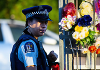 Leanne Meikle (NZ Police).  NZ marks one week since Christchurch terror attacks. Wellington Islamic Centre in Wellington, New Zealand on Friday, 22 March 2019. Photo: Dave Lintott / lintottphoto.co.nz