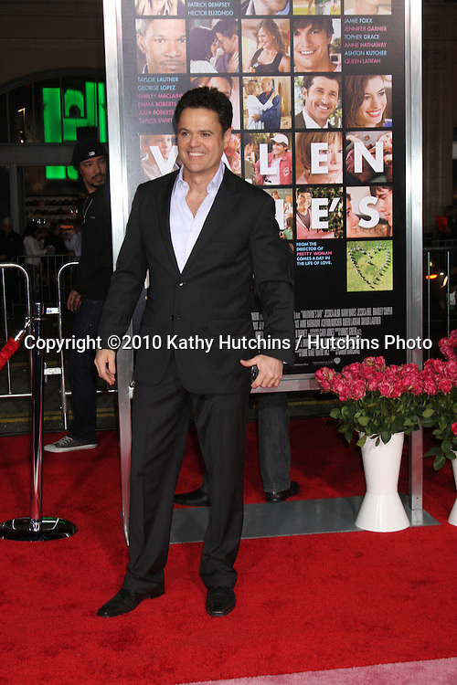 Donny Osmond.arrivng at the Valentine's Day World Premiere.Grauman's Chinese Theater.Los Angeles, CA.February 8, 2010.©2010 Kathy Hutchins / Hutchins Photo....