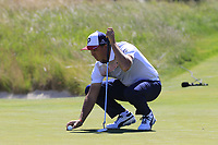 Rickie Fowler (USA) on the 16th green during Thursday's Round 1 of the 118th U.S. Open Championship 2018, held at Shinnecock Hills Club, Southampton, New Jersey, USA. 14th June 2018.<br /> Picture: Eoin Clarke | Golffile<br /> <br /> <br /> All photos usage must carry mandatory copyright credit (&copy; Golffile | Eoin Clarke)